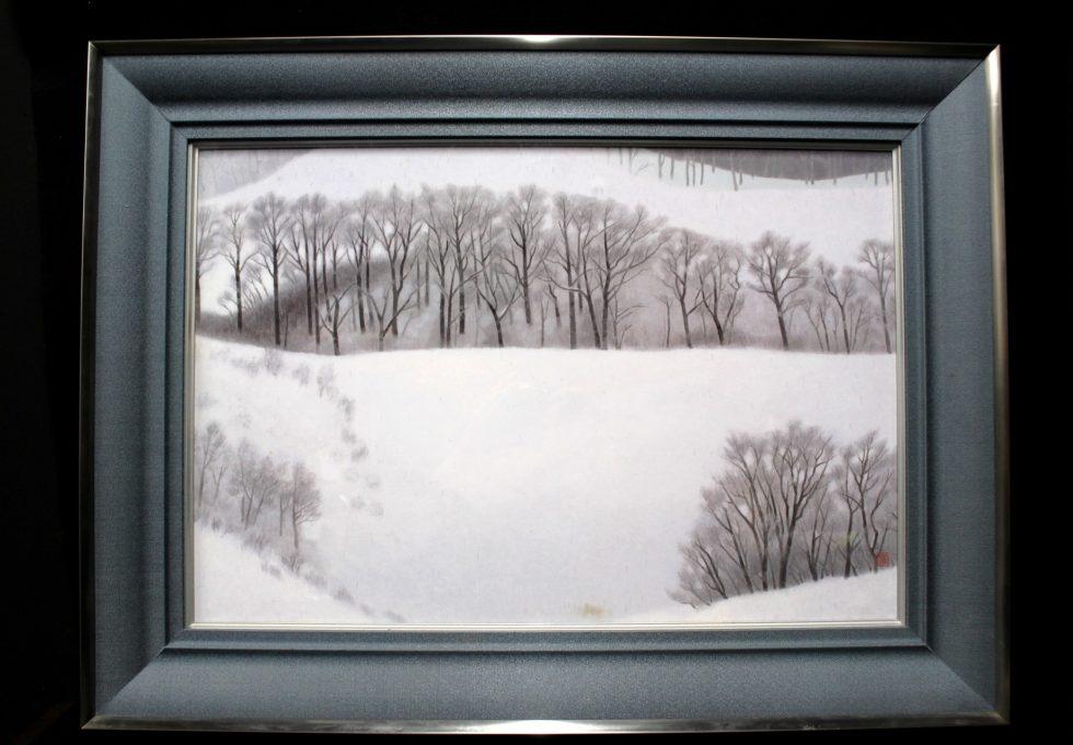 文化勲章 東山 魁夷 日展出品作品 『冬の旅』 高級工芸画 共同印刷