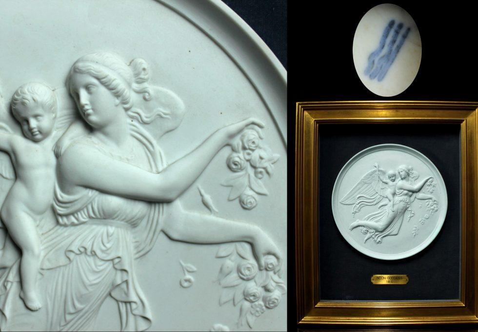 19世紀 ロイヤル コペンハーゲン 『NOON GODDESS』 額装
