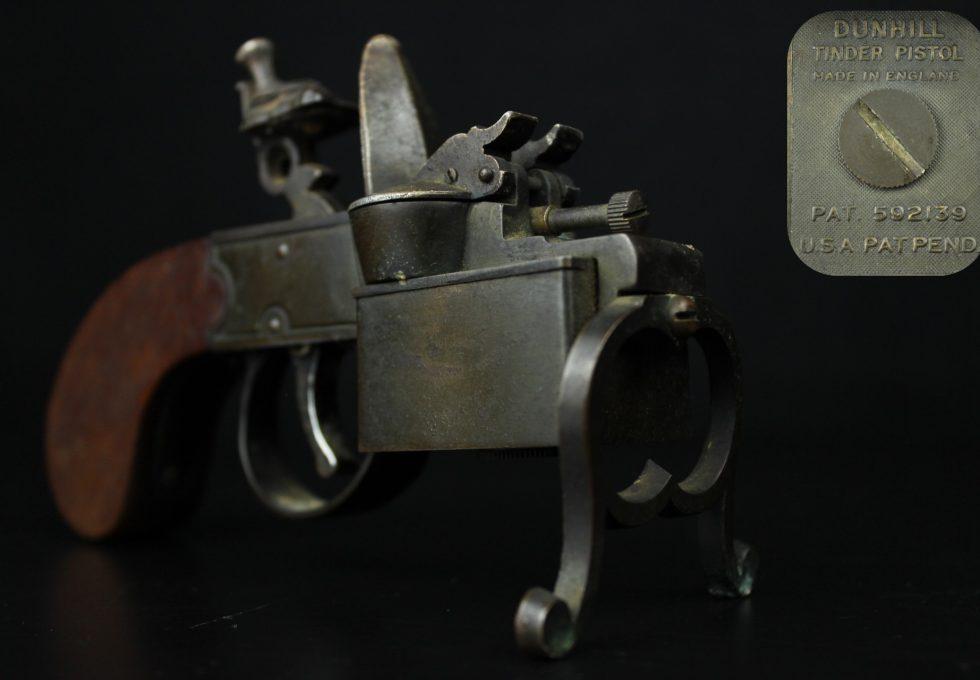 英国製 ダンヒル DUNHILL 卓上 ピストル形ライター