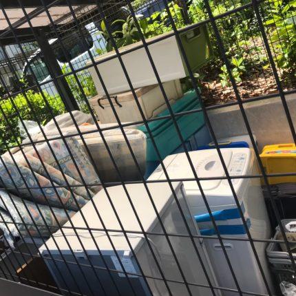 広島市西区 共同住宅ゴミステーション 撤去処分作業