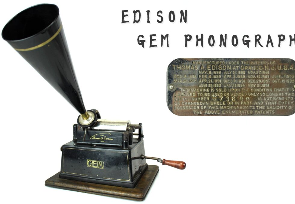 EDISON GEM PHONOGRAPH エジソン 蝋管蓄音機
