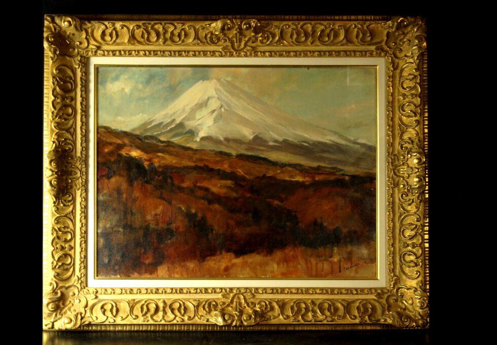 洋画家 小出 三郎 筆 『富士山 (裾野より)』